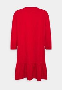 Tommy Jeans - HOMESPUN HEART TEE DRESS - Jersey dress - deep crimson - 1