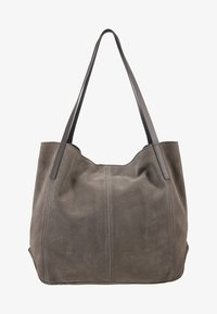 Anna Field - LEATHER - Tote bag - anthracite - 1