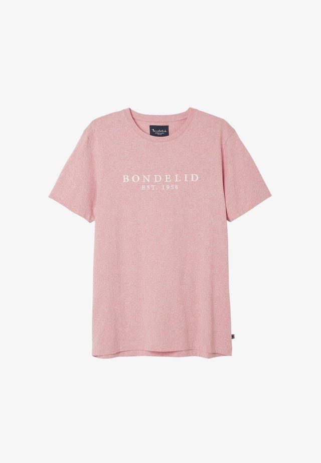 FLETCHER LOGO TEE - T-shirt med print - pink melange