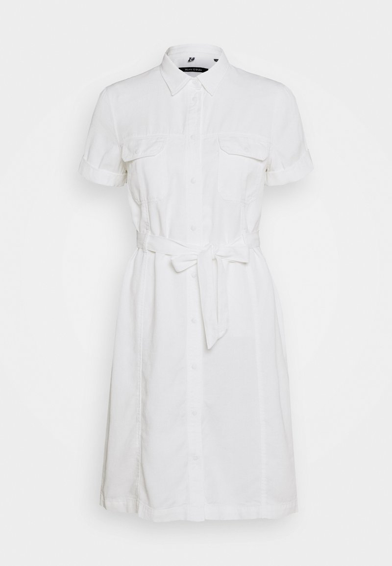 Marc O'Polo - DRESS SHAPED FIT PATCHED - Sukienka koszulowa - white
