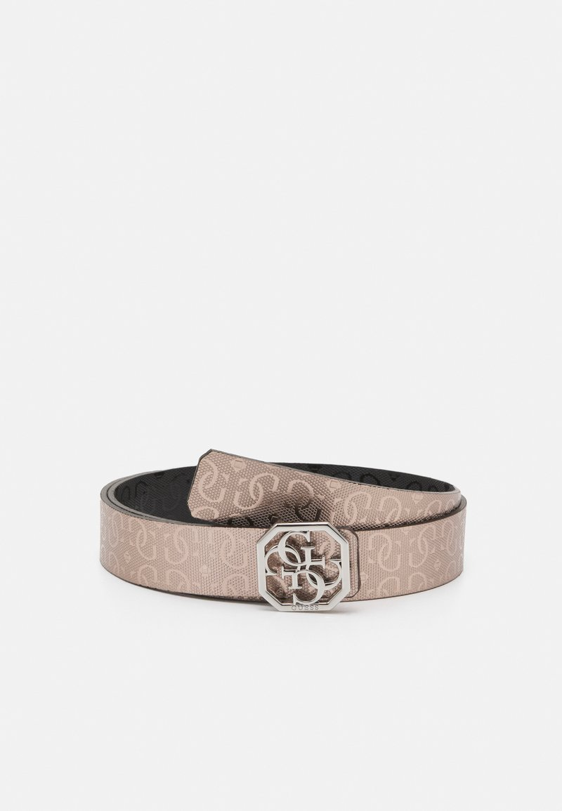 Guess - DILLA NOT PANT BELT - Belt - light pink/black