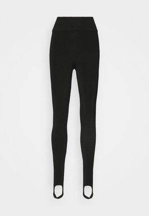 COMPACT SHINE HIGH WAISTED - Leggings - Trousers - black