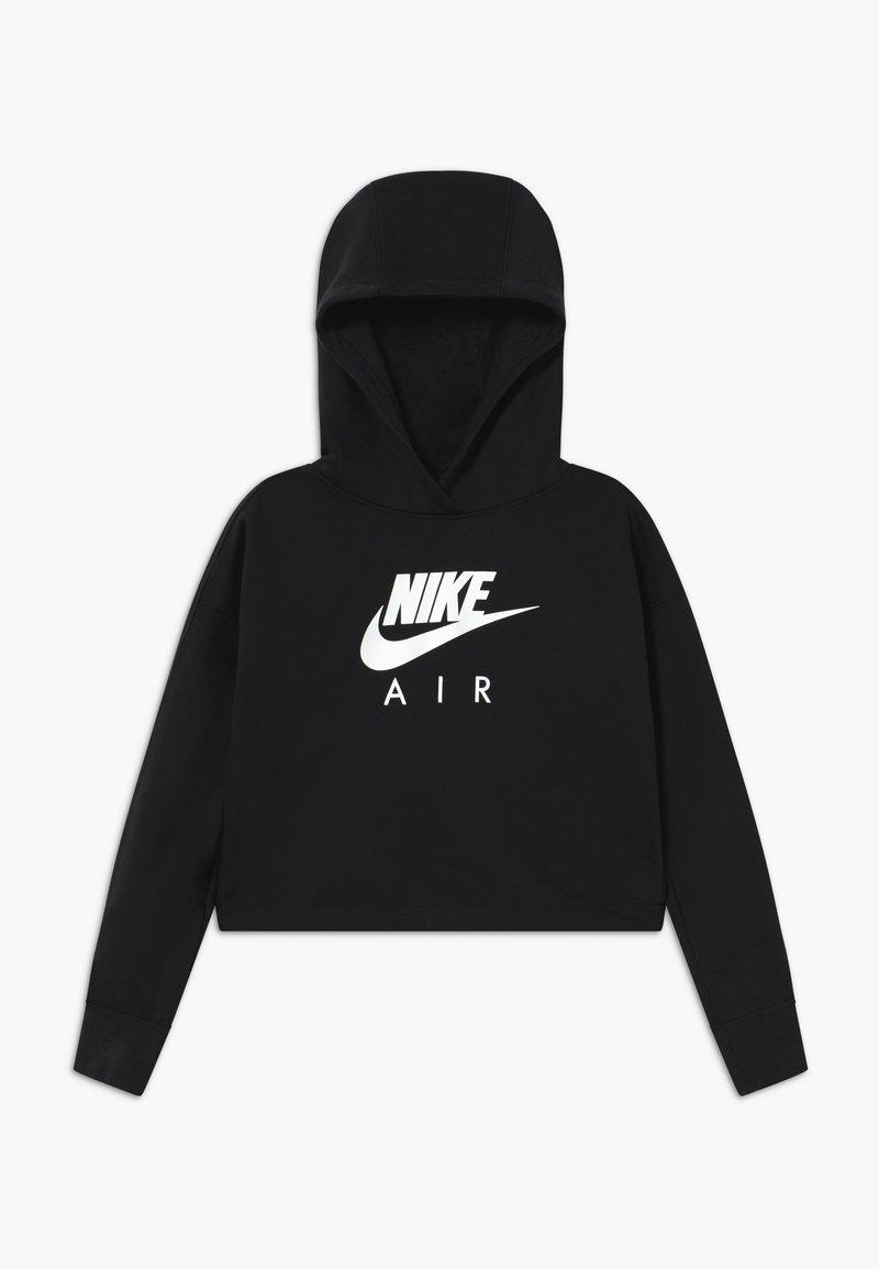 Nike Sportswear - NIKE AIR CROP HOODIE - Hoodie - black/white