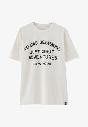 NO BAD DECISIONS - T-shirt imprimé - white