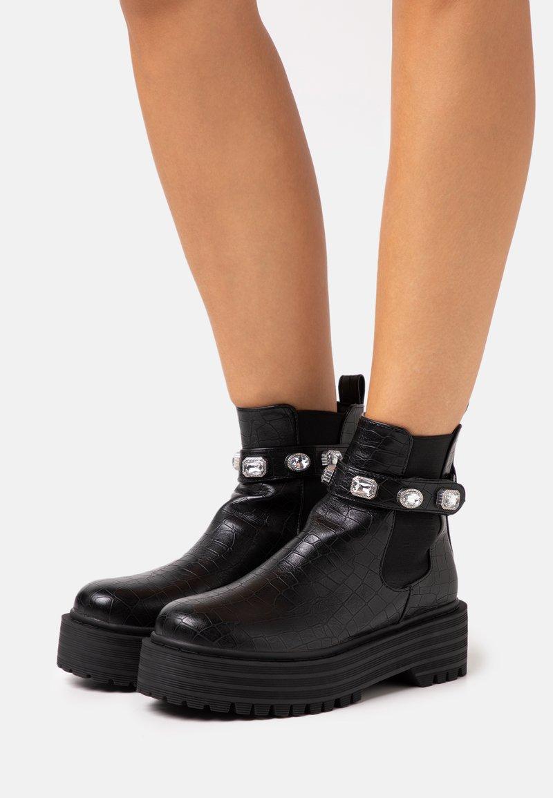 RAID - KAREN - Platåstøvletter - black
