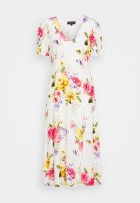 GEORGIA FLORAL TEA DRESS - Denní šaty - white