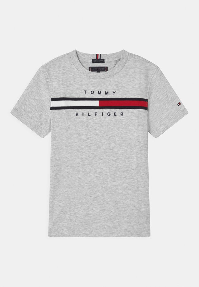 FLAG INSERT - T-shirt print - light grey heather