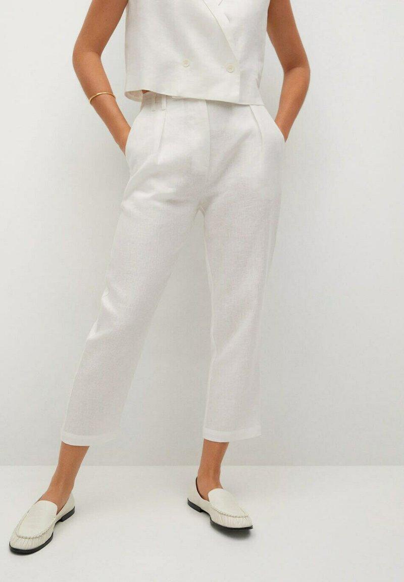 Mango - Trousers - offwhite