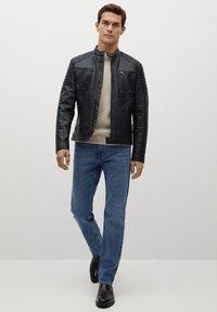 Mango - JOSENO - Leather jacket - black - 1