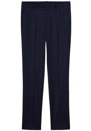 Oblekové kalhoty - dunkles marineblau