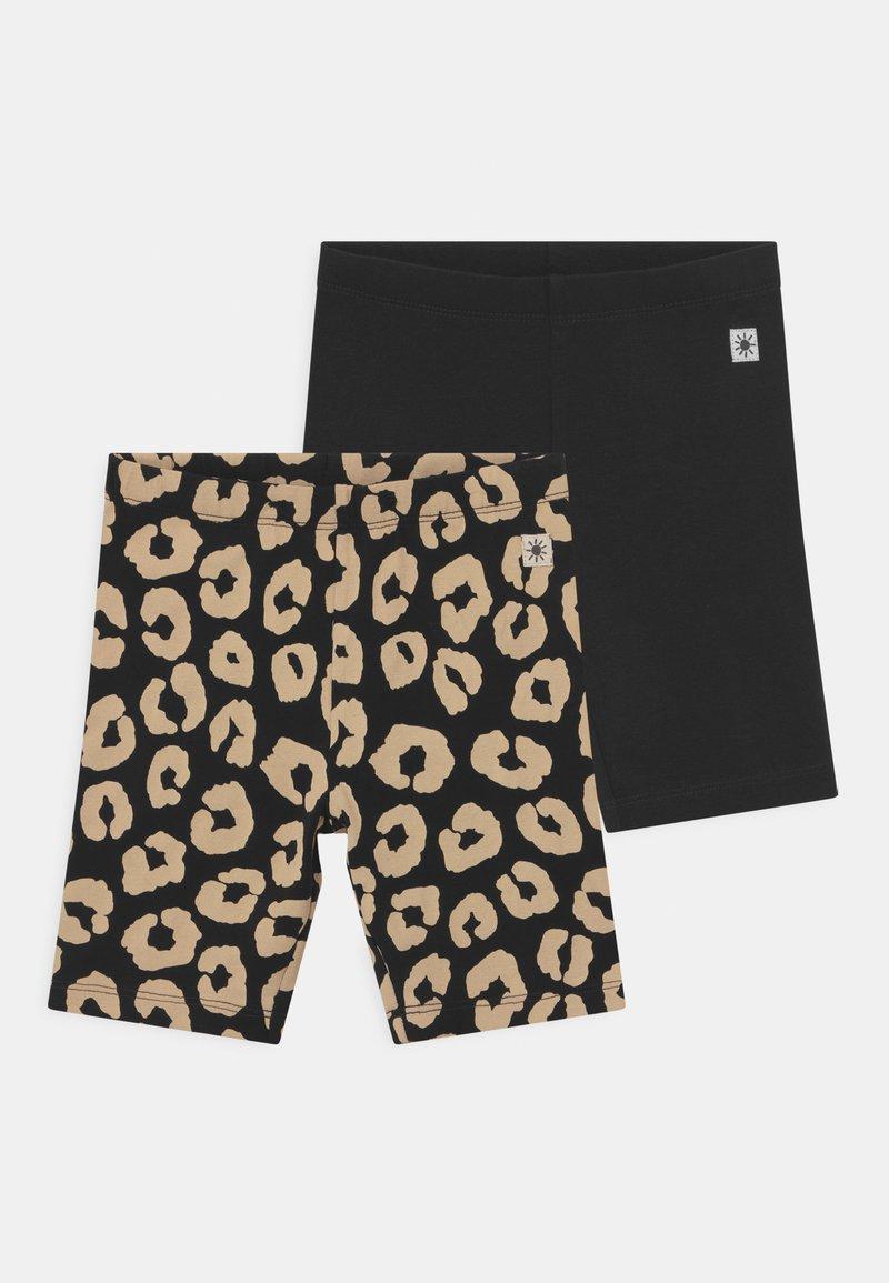 Lindex - BIKER LEO 2 PACK - Shorts - off black