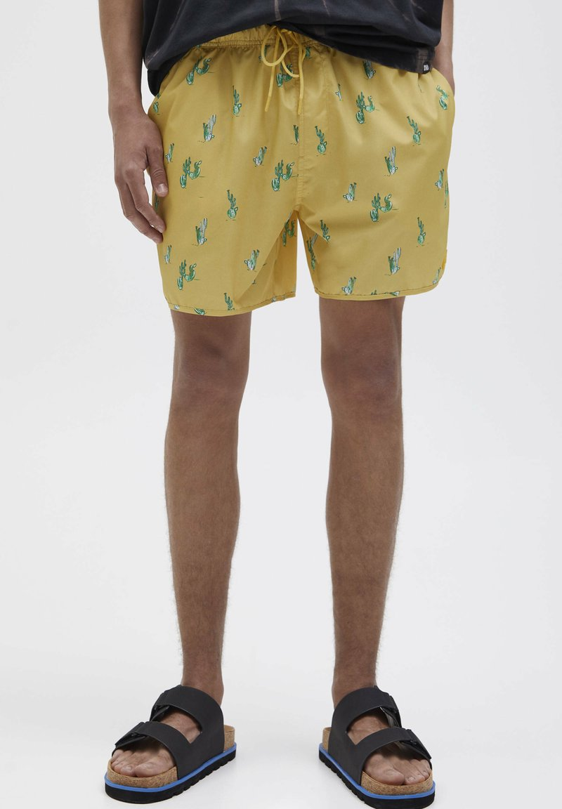 PULL&BEAR - CACTUS - Plavky - yellow