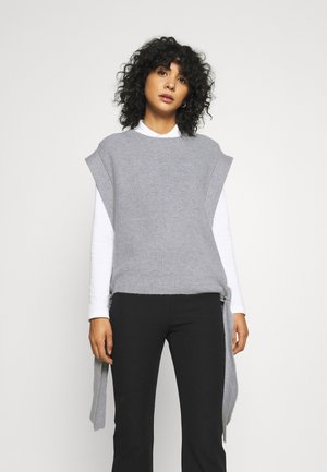 ELISSIA WITH TIES - Cape - grey