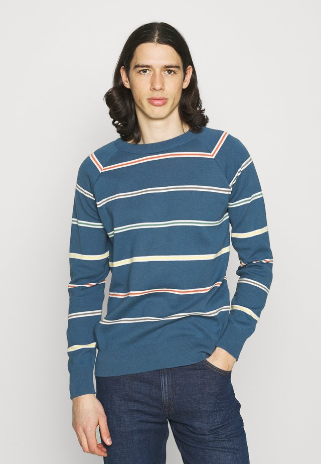 CARROL RAGLAN - Jumper - ensign blue/multi stripe