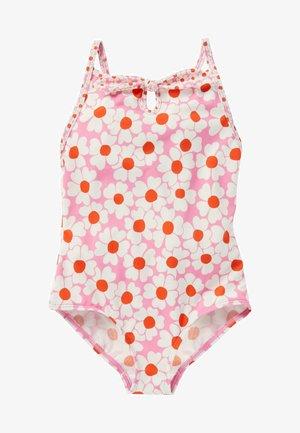 Swimsuit - pflaumenblütenrosa/gänseblümchenmuster