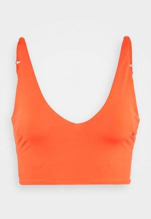TONI PLUNGE CROP - Bikini top - orange