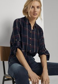 TOM TAILOR - Button-down blouse - navy grid check - 6