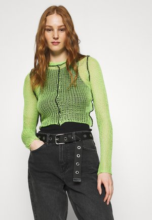 LIME SHEER BLACK SEAMS - Jumper - lime