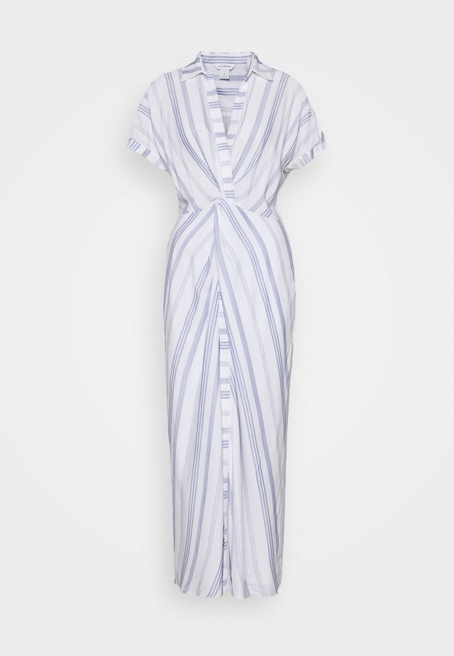 MAXI TWIST FRONT DRESS - Maxi-jurk - white/blue