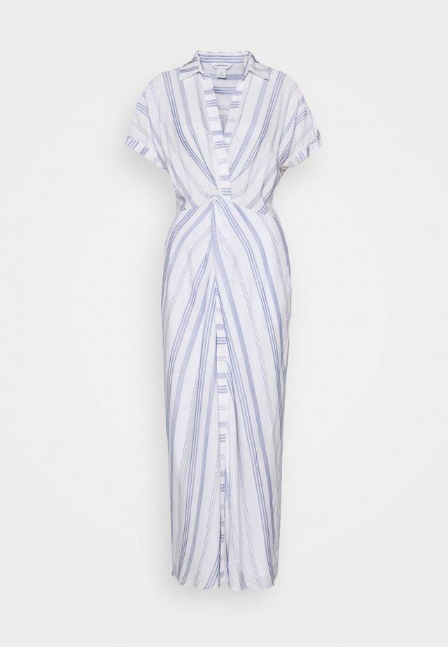 MAXI TWIST FRONT DRESS - Maxi dress - white/blue