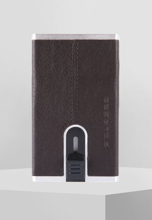 SQUARE - Business card holder - dark brown