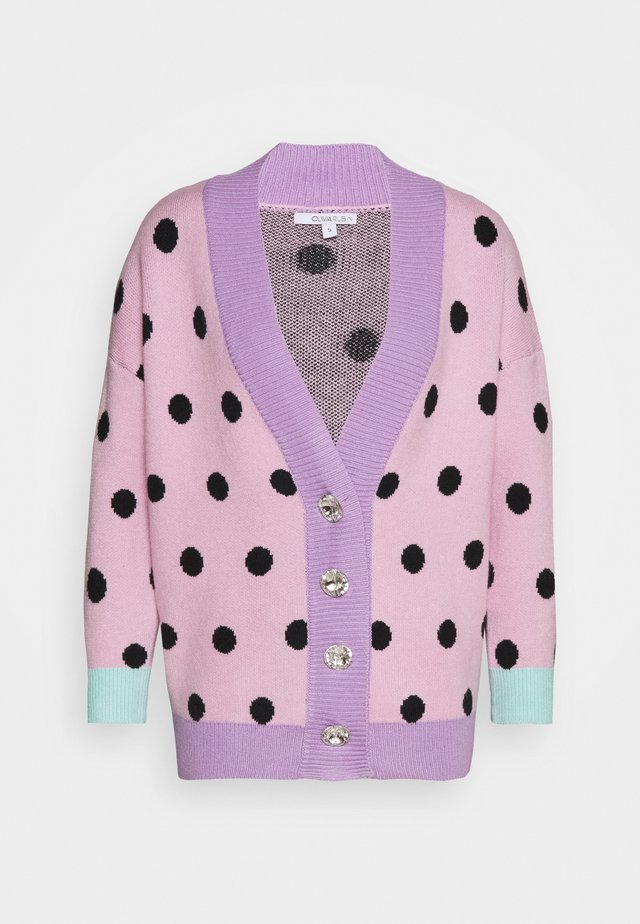 CECILY CARDGIAN - Cardigan - pink/black