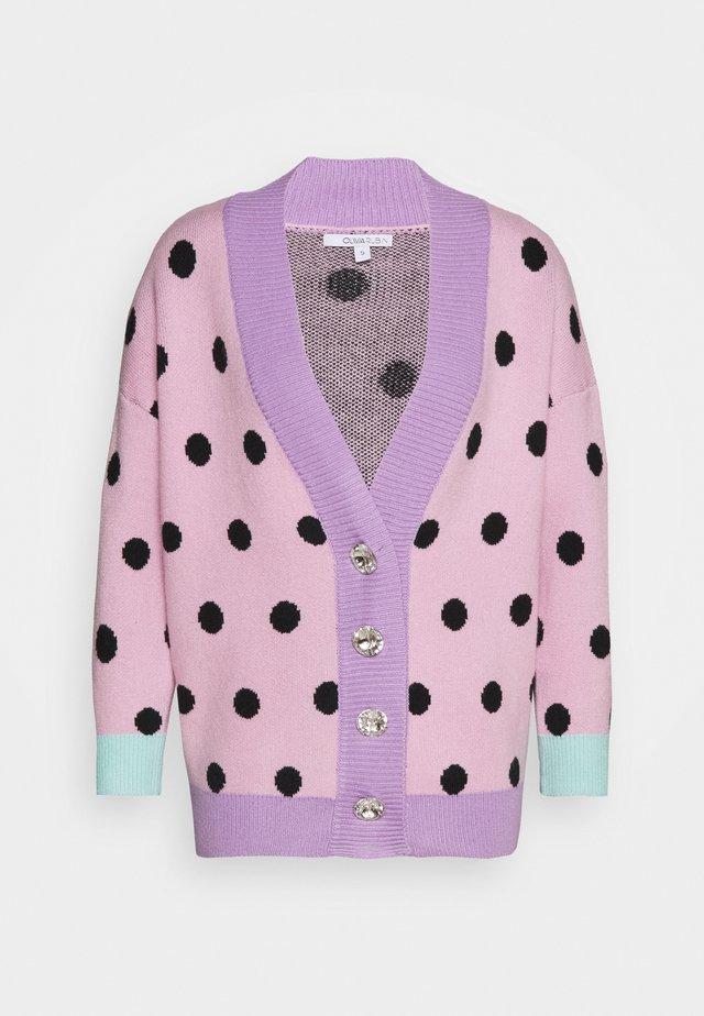 CECILY CARDGIAN - Strickjacke - pink/black