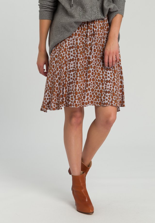A-line skirt - cognac grey varied