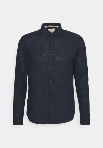 LEINEN MIX - Camisa elegante - navy