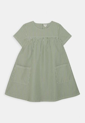 DRESS - Korte jurk - green/white