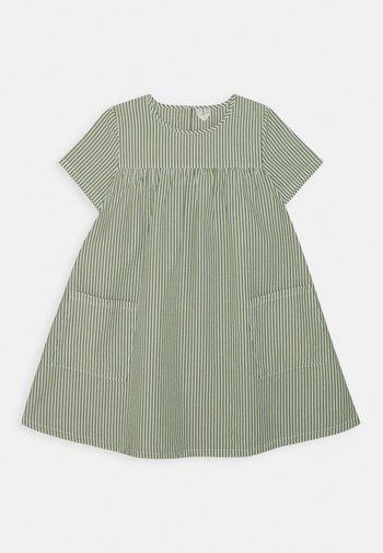 DRESS - Day dress - green/white