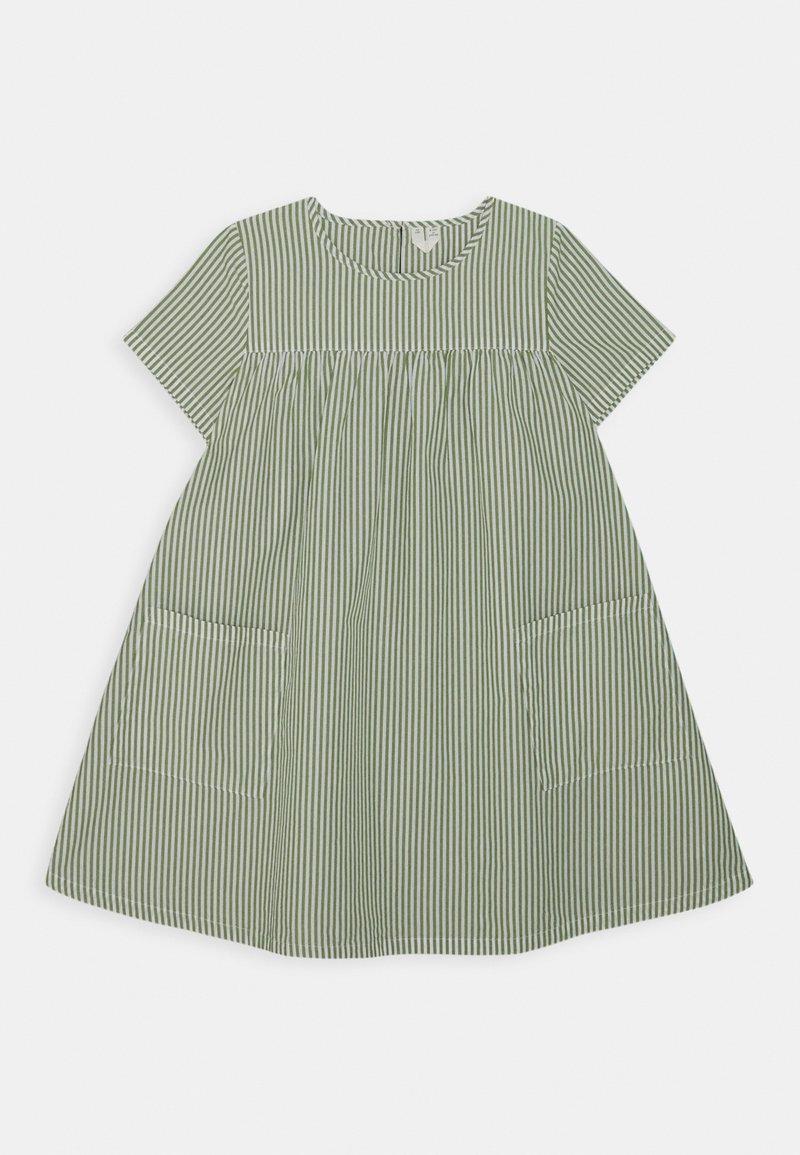 ARKET - DRESS - Denní šaty - green/white