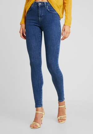 ONLPOWER MID PUSH UP - Jeansy Skinny Fit - dark blue denim