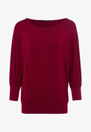 Long sleeved top - claret red