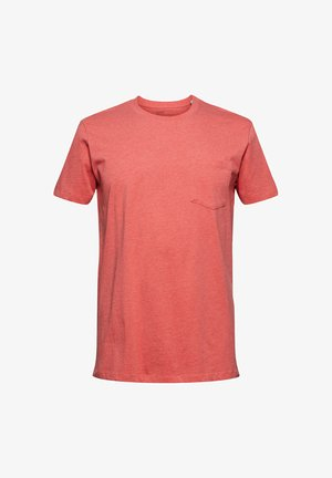 SLIM FIT - Basic T-shirt - coral red