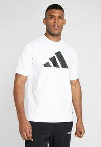 adidas Performance - MUST HAVE ATHLETICS SHORT SLEEVE TEE - Print T-shirt - white/black - 0