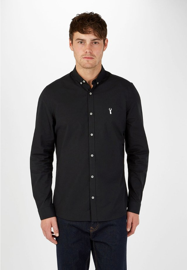 LONG SLEEVE STRETCH OXFORD - Koszula - black