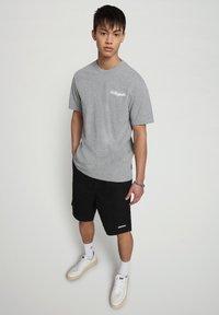 Napapijri - SOLE GRAPHIC - Print T-shirt - medium grey melange - 1