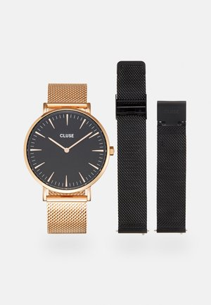 BOHO CHIC GIFT BOX SET - Watch - rose gold/black