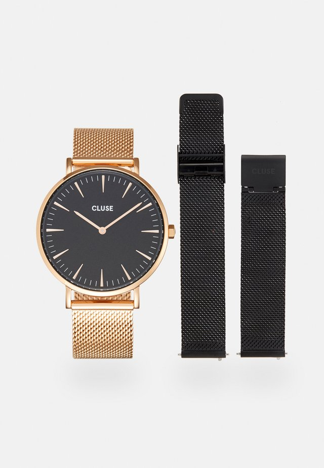 LA BOHÈME GIFT BOX SET - Watch - rose gold/black