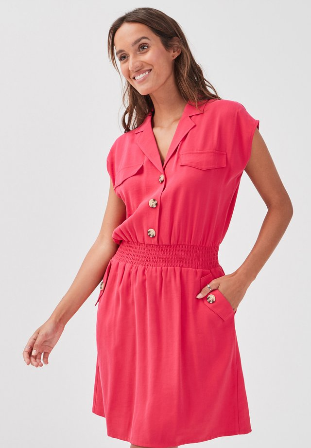Shirt dress - rose fushia