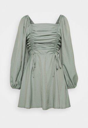 RUCHED BUST ALINE DRESS - Korte jurk - sage