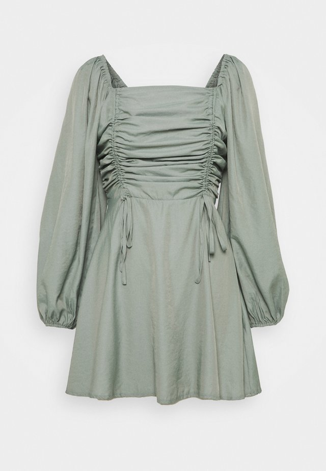 RUCHED BUST ALINE DRESS - Sukienka letnia - sage