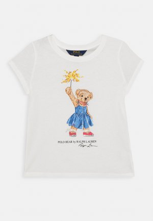 BEAR TEE - T-shirt imprimé - deckwash white