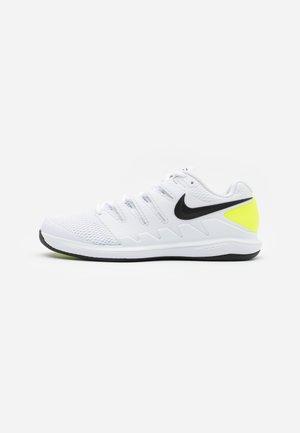 AIR ZOOM VAPOR X CPT - Carpet court tennissko - white/black/volt