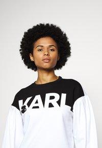 KARL LAGERFELD - PUFFY SLEEVE LOGO - Mikina - black/white - 3
