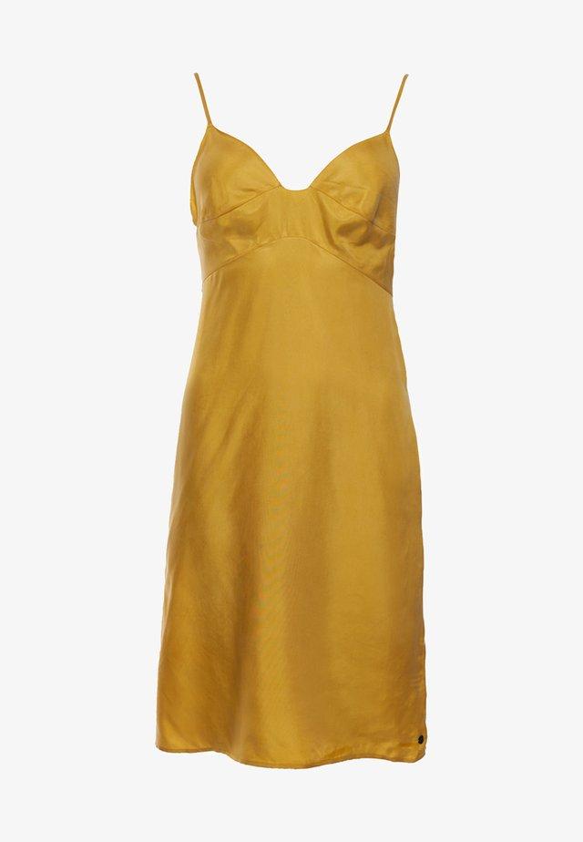 Korte jurk - sulphur yellow