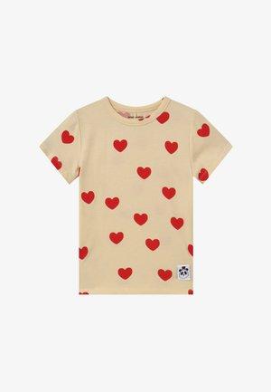 HEARTS TEE - T-shirt imprimé - offwhite