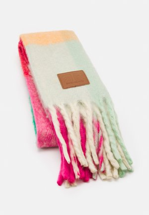 BLOCK CHECK SCARF - Scarf - pink