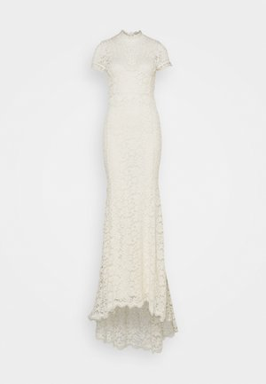 LONG DRESS SHORT SLEEVE - Festklänning - ivory
